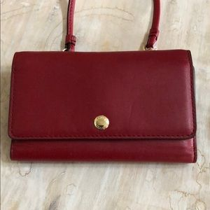 Beautiful Coach Red Mini wallet cross over.  New